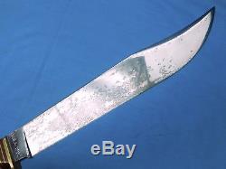 Vintage US 1992 Scagel Handmade MSA Marbles Huge Bowie Hunting Stag Knife