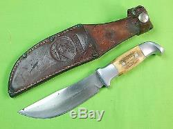 Vintage US Custom Hand Made Early RUANA Knife Marked Hunting Fighting Knife