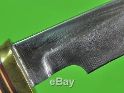 Vintage US Custom Hand Made RANDALL Model 4 5 Hunting Stag Knife & Sheath