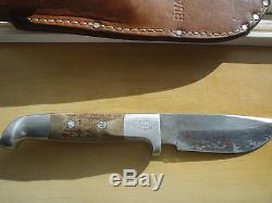 Vintage US Custom Hand Made RUANA Bonner Montana Hunting Skinner Knife