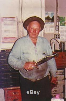 Vintage US Custom Hand Made RUANA Hunting Knife & Sheath Signed Blade