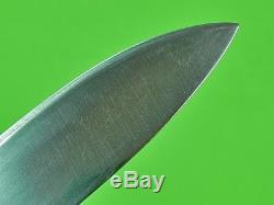 Vintage US Custom Hand Made by RALPH BONE Hunting Knife & Sheath