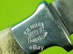 Vintage US Custom Made Rudy RUANA Model 13A Signed Blade Small Hunting Knife