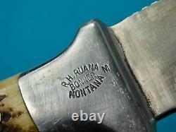 Vintage US Custom R. H. RUANA Bonner Montana Model 20B M Marked Hunting Knife