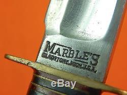 Vintage US Marbles Gladstone MI Huge Fighting Hunting 7 Blade Knife