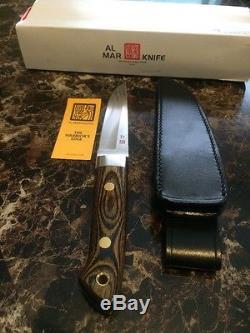 Vintage Unused AL MAR THE WARRIOR'S EDGE Hunting/Skinner Knife. /sheath/Box