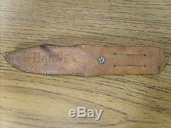 Vintage W. R. Case & Sons Pre WWII Fixed Blade Stag Hunting Sheath Knife 9-1/4