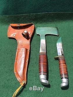 Vintage WESTERN BOULDER COLO USA Hunting Knife & Hatchet ...