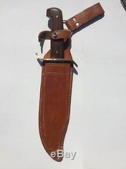 Vintage Western Boulder Co Pre-W49 Bowie Hunting Fighting V44 Knife/Sheath Exc