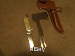 Vintage Western Boulder Colo. Knife Hatchet Combo