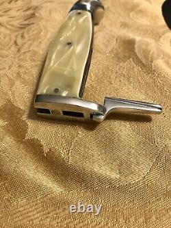 Vintage Western Boulder Colorado Knife / Hatchet Combo Set With Leather Sheath