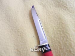 Vintage Western Boulder PA48 Red Handle 8 Fish/Hunting Knife Sweet withsheath