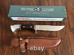 Vintage Western Cutlery Fixed Blade Sheath Knife W36