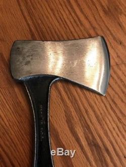 Vintage Western USA Black Beauty Hunting Knife / Camp Hatchet Combo
