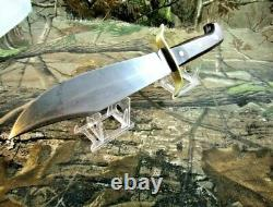 Vintage Western USA W-49 E Fixed Blade Knife WithCustom Made Dangler Sheath #P-95