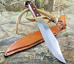 Vintage Western USA W-49 F Fixed Blade Knife With Original Dangler Sheath #P-99