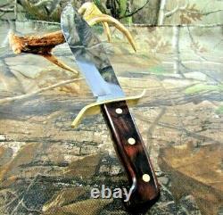 Vintage Western USA W-49 I Fixed Blade Knife With Original Dangler Sheath #P-97