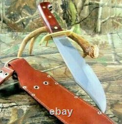 Vintage Western USA W-49 K Bowie Hunting Knife With Dangler Sheath #P-96