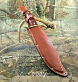 Vintage Western USA W-49 K Fixed Blade Knife With Dangler Sheath #P-96