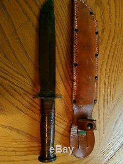 Vintage Western WW2 Era 8 fighting Hunting Blued Blade Knife