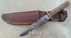 Vintage and old antique Sheffield England fighting bowie hunting knife