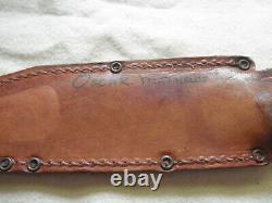 Vintage1968 Original Puma Bowie 6396 Stag handle German knife With Orig. Sheath