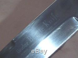 VintageLINDER BOWIE KNIFERAZOR SHARPROSEWOOD HANDLE HUNTING & FIGHTING KNIFE