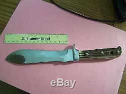VintagePUMAWHITE HUNTERHANDMADE HUNTING KNIFE withSTAG HANDLE & ORIG. BOX