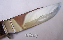 Vtg. 1932-40 CASE Stag Handle Hunting Knife # 557 with Orig. Sheath