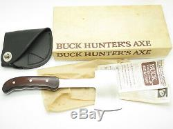Vtg 1988 Buck USA 106 Hunters Axe Fixed Blade Hunting Camp Hatchet Knife In Box