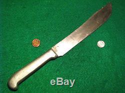 Vtg 8 Blade Hunt USA NEB. F. J. RICHTIG BUTCHER Knife Bowie Alum Ek GERBER case