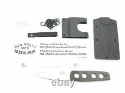 Vtg Boker Bud Nealy 440C & G10 Solingen Germany Fixed Blade Knife