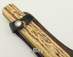 Vtg PIC Import Original Bowie Solingen 13138 Jigged Plastic Hunting Sheath Knife