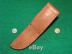 Vtg Sheath 1943-44 SQ CUT Hunt Blade R H RUANA Tapered Knife #1 Stamped 13A Case