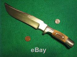 Vtg Sheath 7 Blade Hunt R H Ruana STAG FINN Knife #1 ORIG Leather 27C BOOT Case