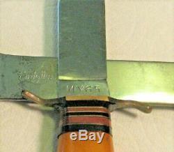 Vtg Sheath Hunt Blade 30's KINFOLKs Hatchet Axe Knife COMBO SET ORIG fold case