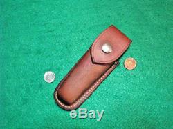 Vtg Sheath Hunt Blade High Speed Usa GERBER FFH Knife #1 Handle Nice fold case