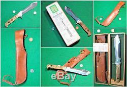Vtg Sheath PRE 64 Blade Hunt PUMA WithH Bowi Stag Knife #1 Orig Fold 6377 Box case