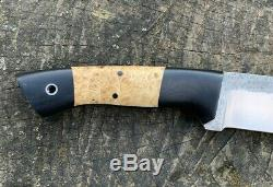 WA Surls Knife Hunter Burl Inlay Black Micarta Fiddleback Forge WAS Knives 13