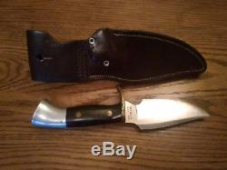 WESTERN-WESTMARK-703-HIGH END ROSEWOOD HANDLE HUNTING KNIFE withORIG. SHEATH