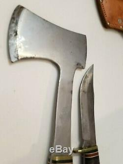 Western Axe Hatchet & L66 Knife Set With Sheath Made In Boulder, Colo