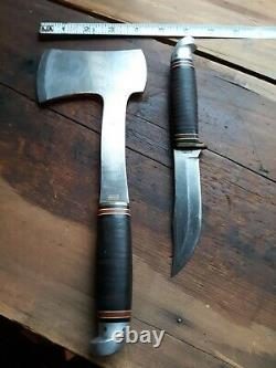 Western Boulder, Colo. Hatchet And Knife Combo