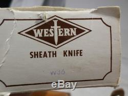 Western Fixed Blade BOXED UNUSED W36 Hunting Knife