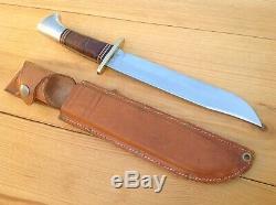 Western L46-8 Hunting Survival Bowie Knife Vintage 1951-1978 Boulder, Colo. USA