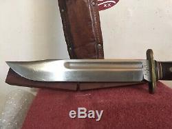 Western U. S. A W46-8 Vintage Fixed Blade Knife Original Sheath VG-Exc 1980