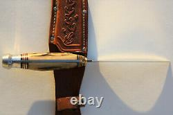 Western USA 539 Stag Skinner Knife Brass Spacers, Acorn Sheath Outstanding