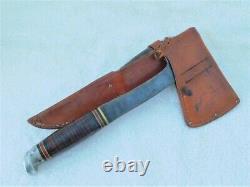 Western knife and hatchet set Model W66 knife Model W10 Hatchet with cases EX