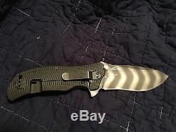 Zero Tolerance ZT 0301 Strider Onion Green Folder Knife Tiger Stripes Rare